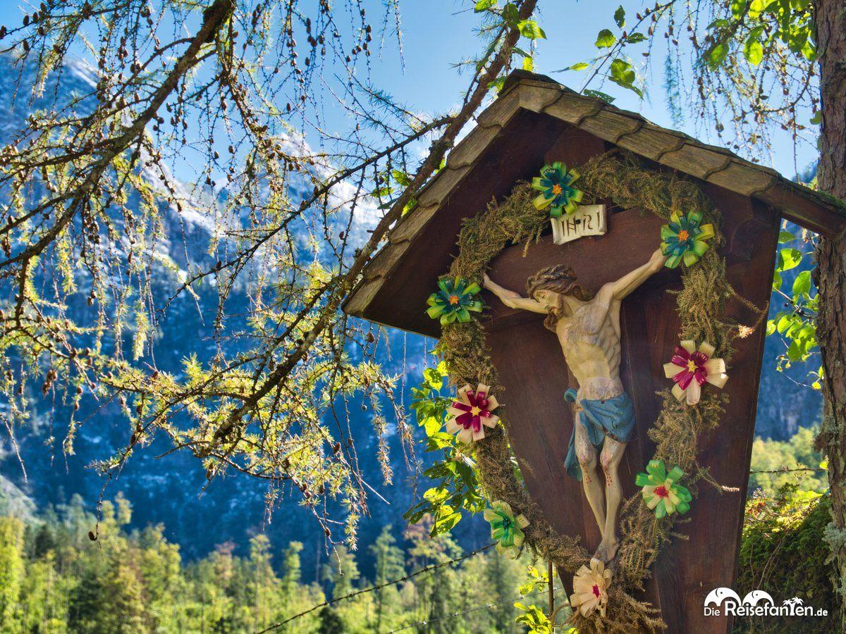 Jesusfigur nahe der Fischunkelalm am Obersee