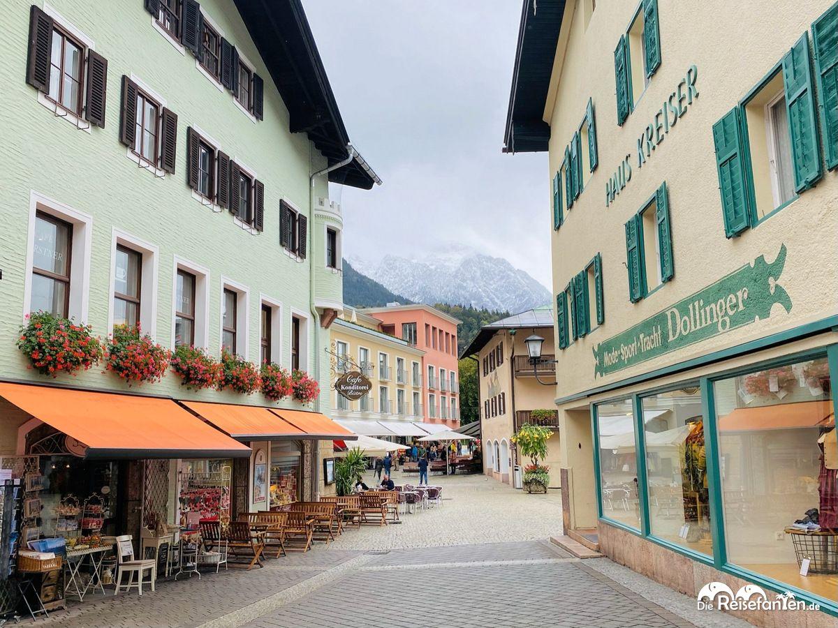Verkehrsberuhigte Straße in Berchtesgaden