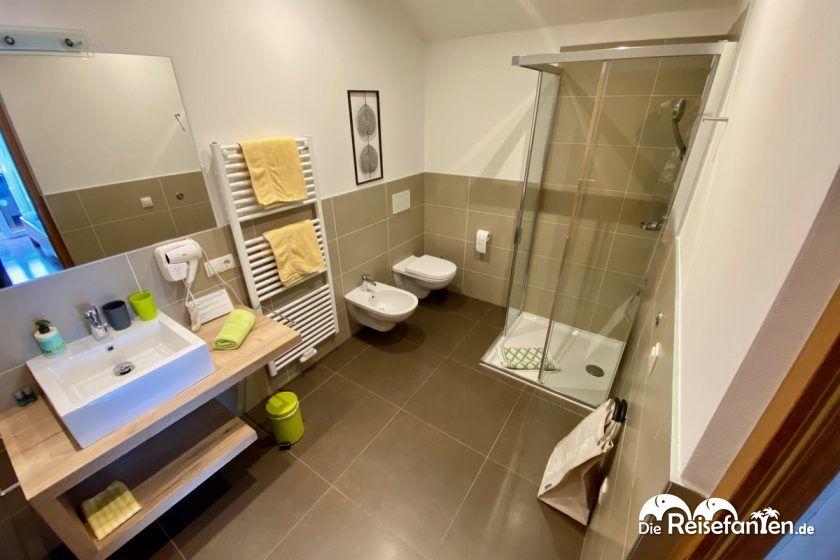 Badezimmer der Residence Reinhild in Nals in Südtirol