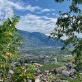 Blick auf Nals in Südtirol