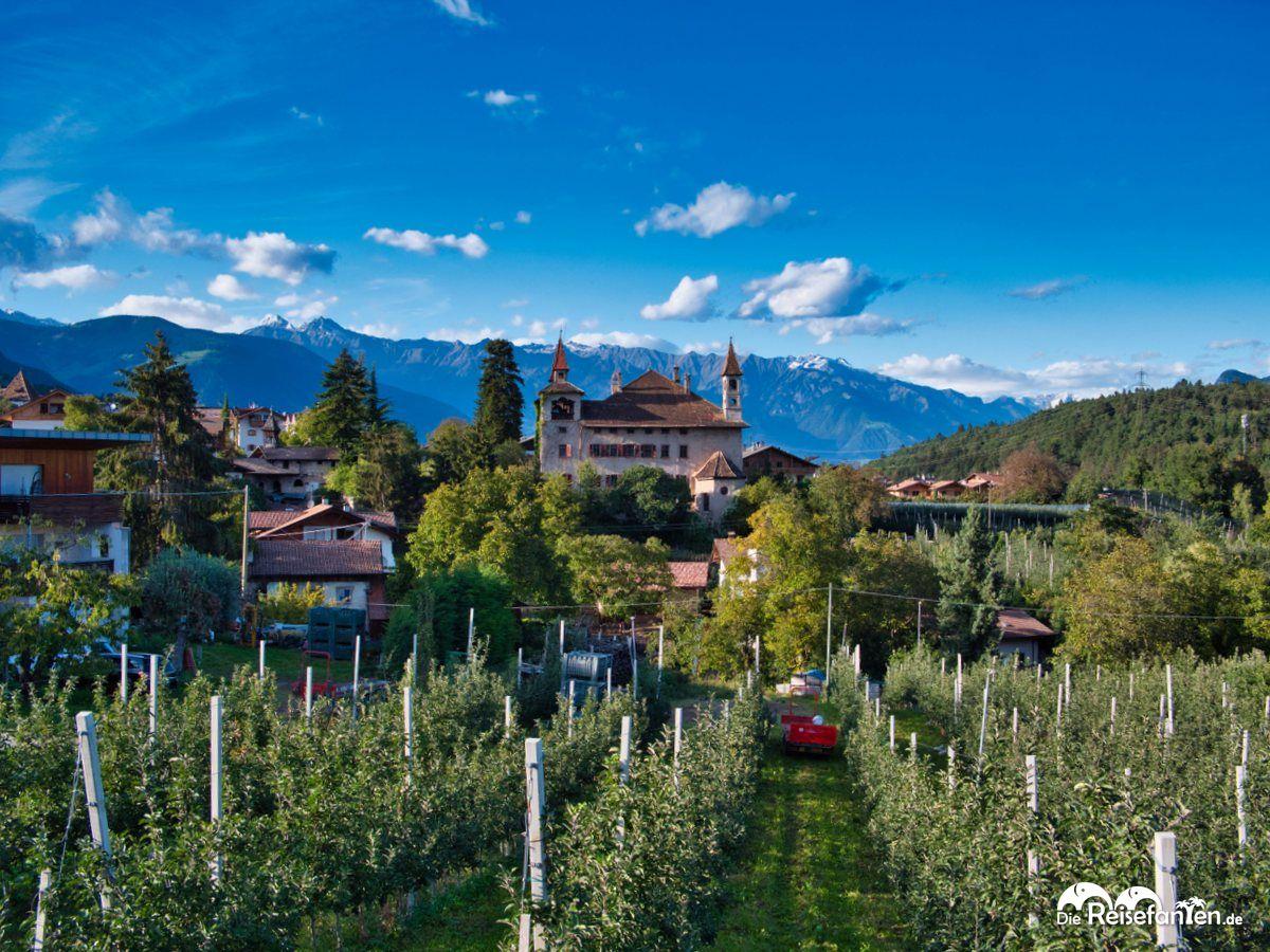 Blick auf die Fahlburg in Prissian