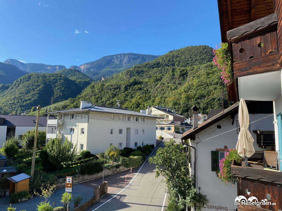 Blick aus unserem Appartement der Residence Reinhild in Nals in Südtirol