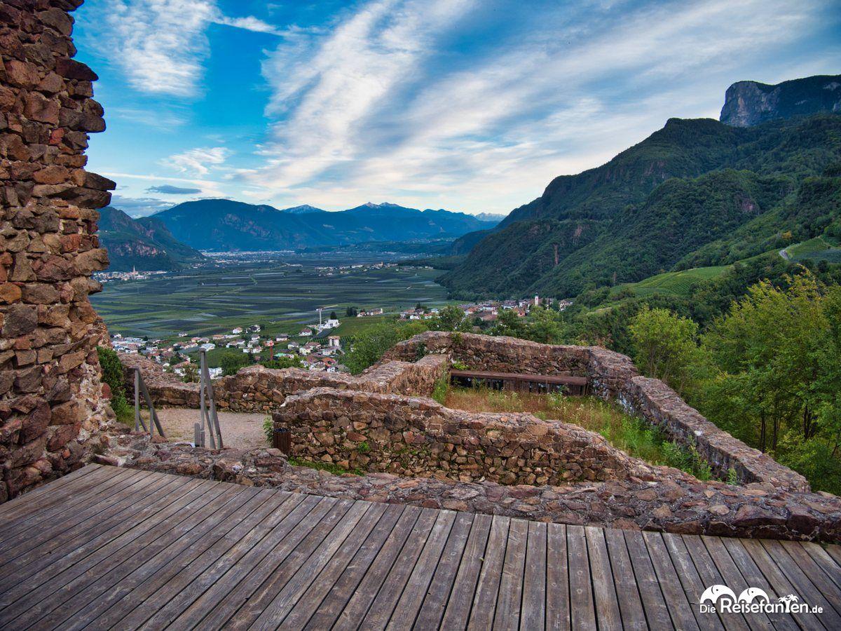 Blick vom Schloss Casatsch