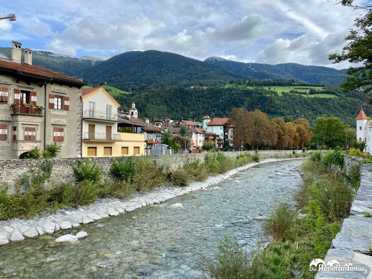 Das Flüsschen Eisack bei Brixen