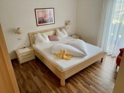 Schlafzimmer in der Residence Reinhild in Nals in Südtirol