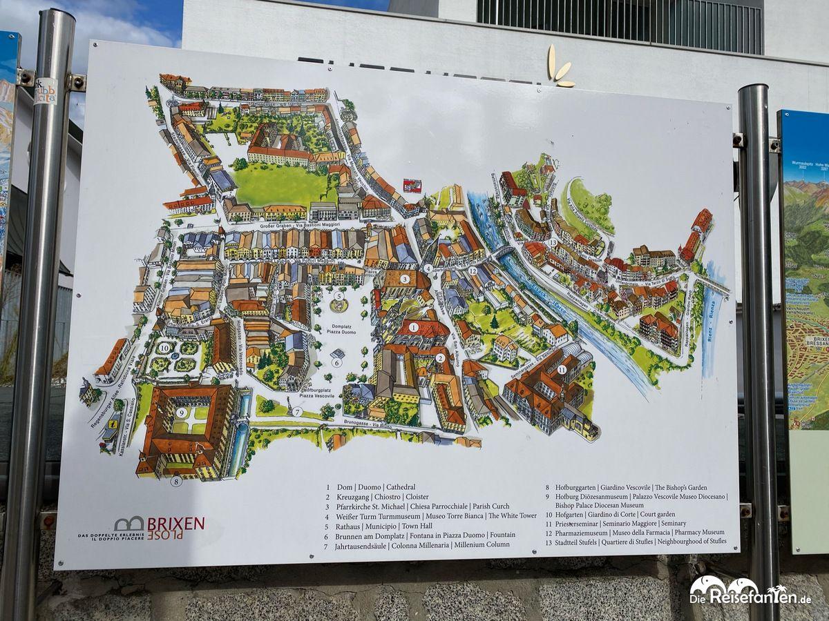 Stadtplan von Brixen