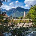 Impressionen aus Meran Schöne Panoramen auch vom Flußufer