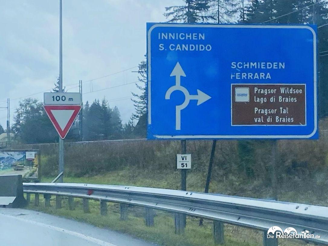 Anfahrt zum Prager Wildsee in Südtirol