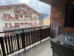 Ausblick vom Balkon der Ariston Dolomiti Residence in Toblach in Südtirol