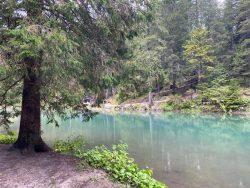 Mit ein bisschen Sonne leuchtet der Prager Wildsee in Südtirol türkis