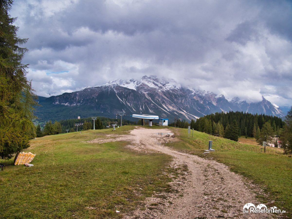Aussicht in Richtung Cortina d'Ampezzo