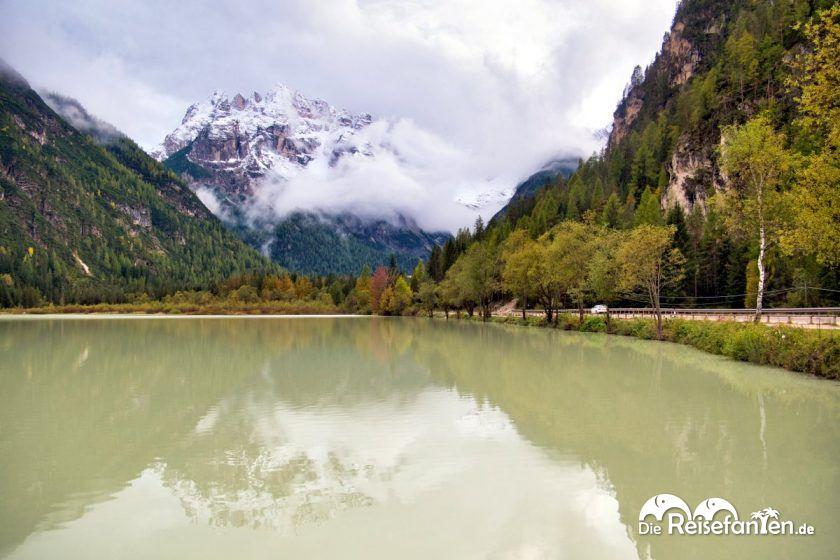 Blick in Richtung Monte Cristallo vom Dürrensee aus
