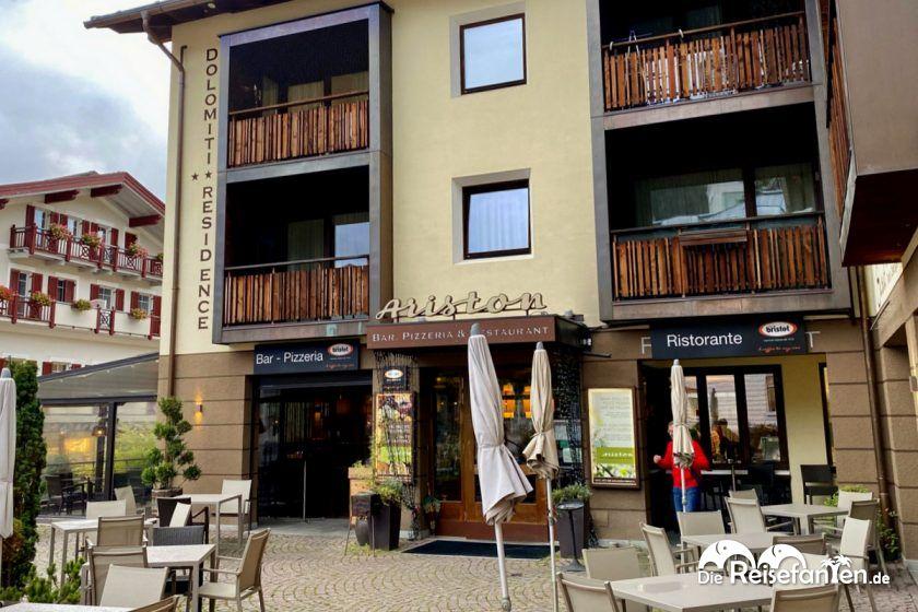 Das Ariston Restaurant in der Ariston Dolomiti Residence in Toblach