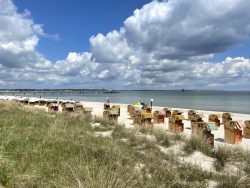 Der Strand von Scharbeutz an der Lübecker Bucht