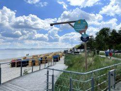 Die ersten Gäste sind in Scharbeutz an der Lübecker Bucht unterwegs