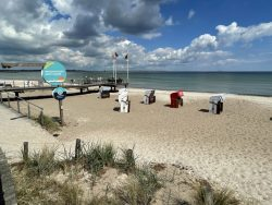 Viel Platz am Strand von Scharbeutz an der Lübecker Bucht