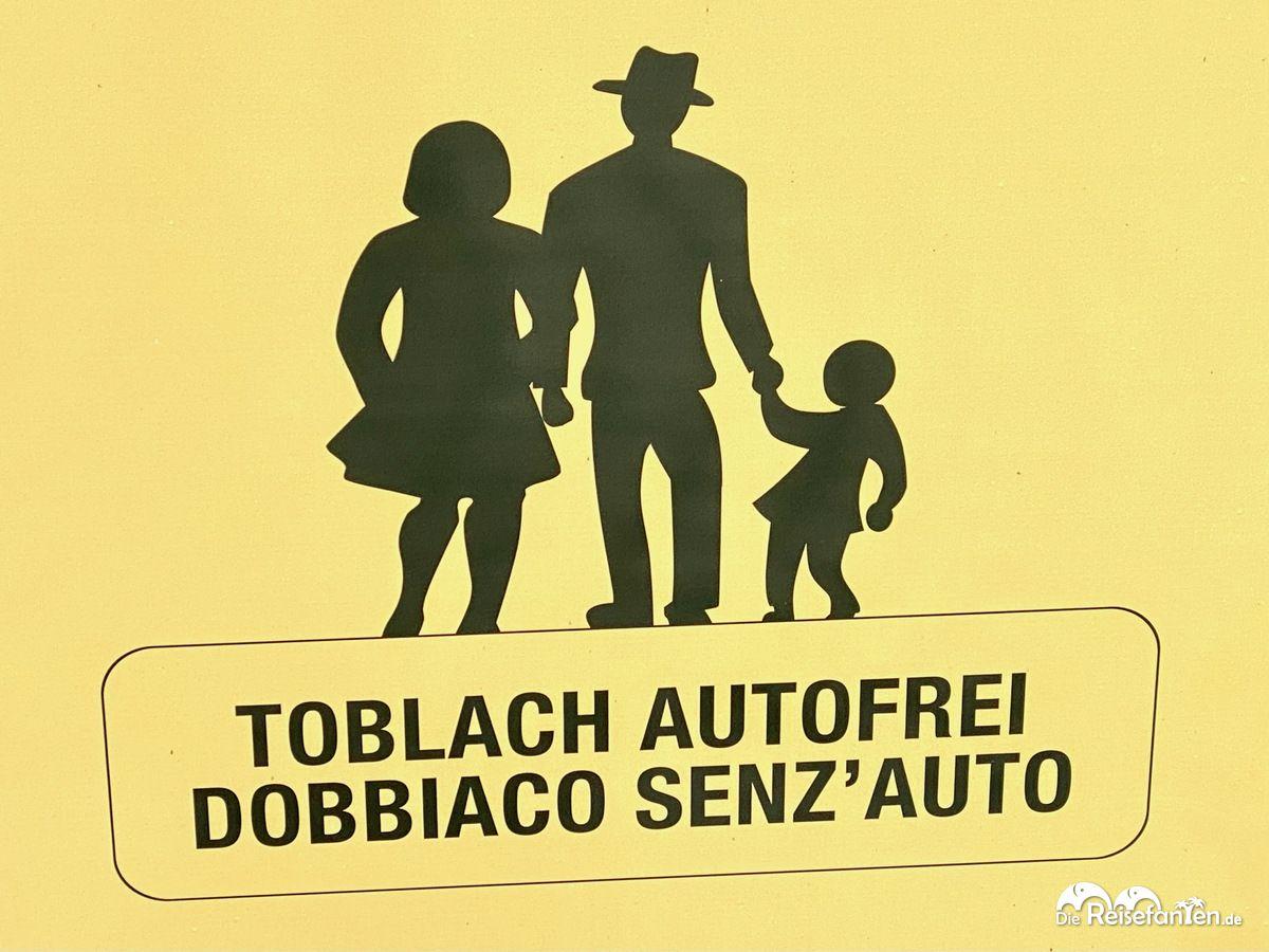 Autofreie Innenstadt von Toblach