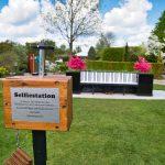 Die Selfiestation im Park der Gärten