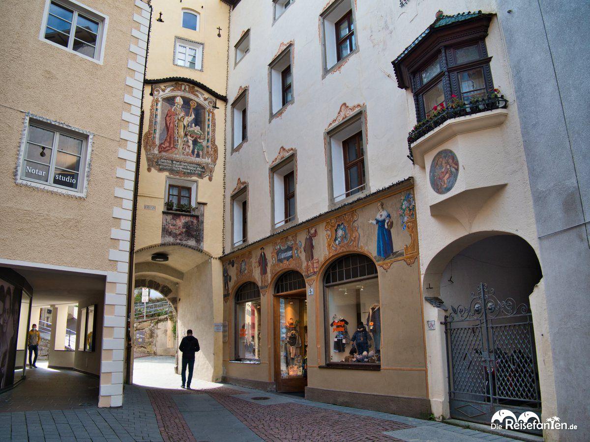 In der Stadtgasse in Bruneck