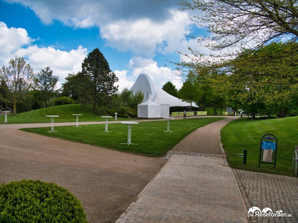 Veranstaltungsbereich im Park der Gärten