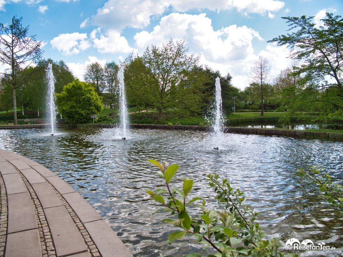 Wasserspiel im Park der Gärten