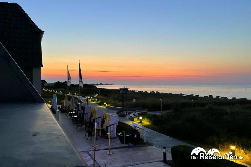 Abendblick aus dem Haus am Meer in Hohwacht an der Ostsee