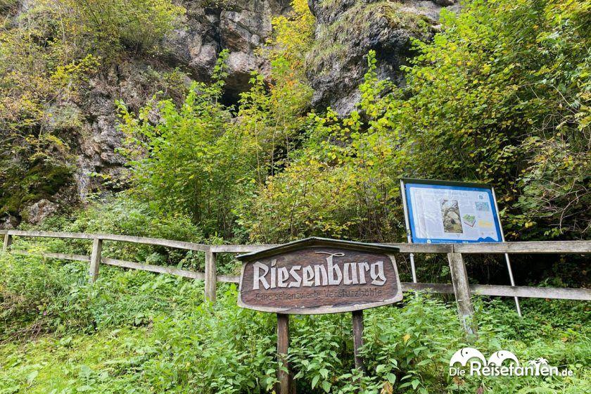 Aufgang zur Riesenburg in Wiesenttal