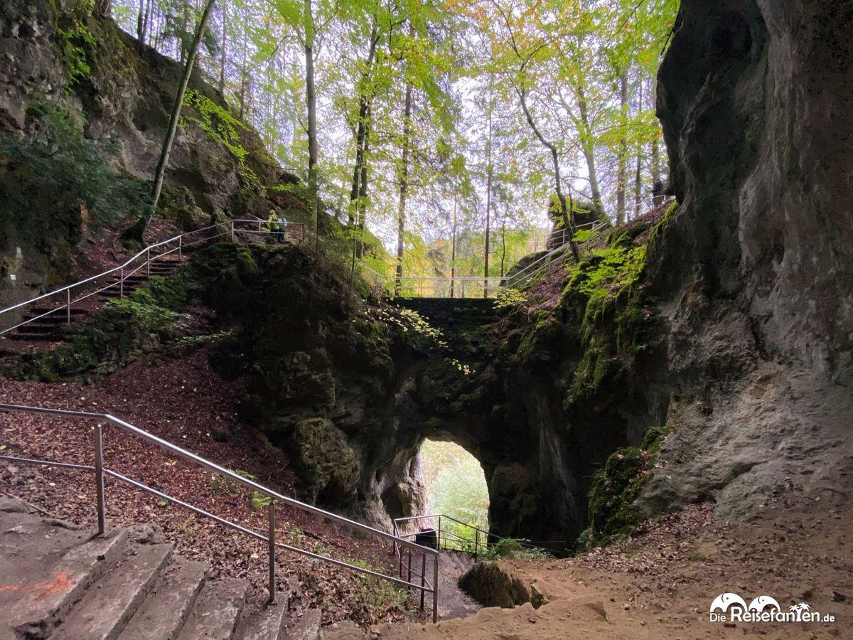 Blick von der Riesenburg in Wiesenttal