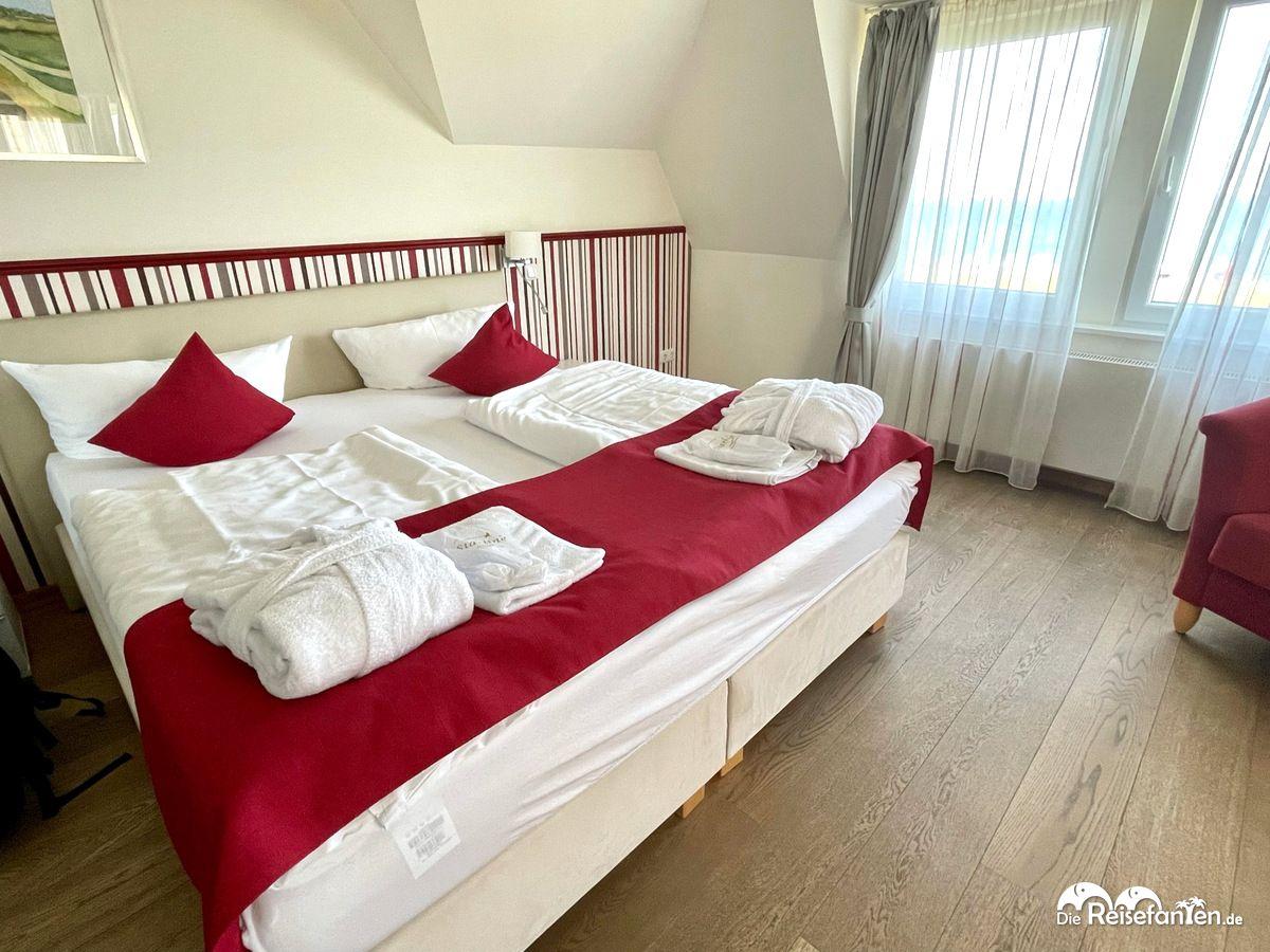 Doppelzimmer mit Meerblick im Haus am Meer in Hohwacht an der Ostsee