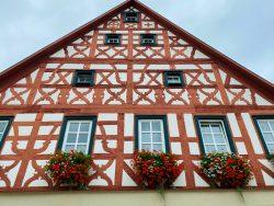 Fachwerkhaus in Ebermannstadt in der Fränkischen Schweiz