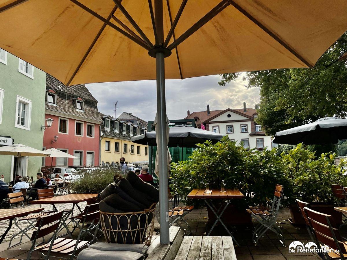 Außenbereich der Alten Münz in Heidelberg