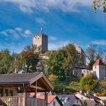 Blick auf das Schloss zu Bruneck