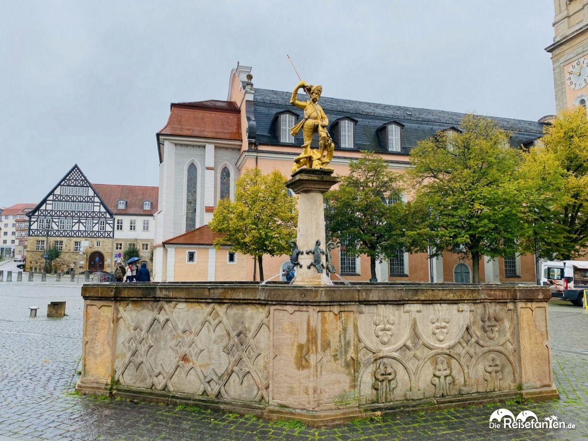 Der Georgsbrunnen an der Georgskirche in Eisenach