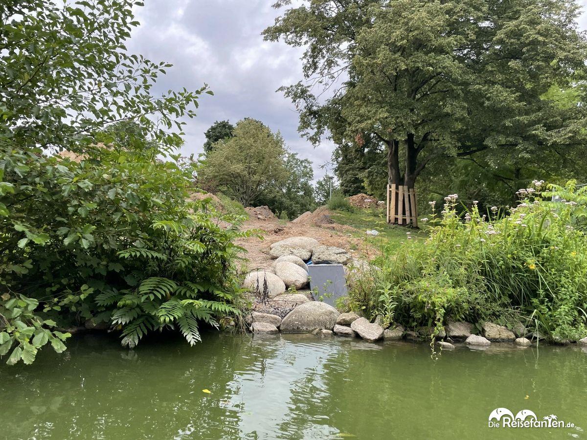 Hier stand die Weinschänke im Luisenpark Mannheim