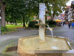Interessanter Brunnen in Bad Sooden