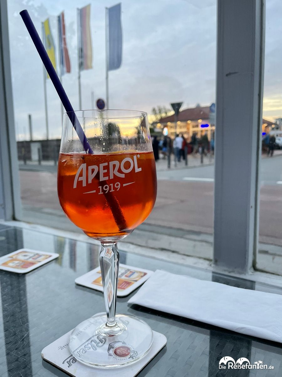 Aperol im Restaurant Hafenblick in Niendorf