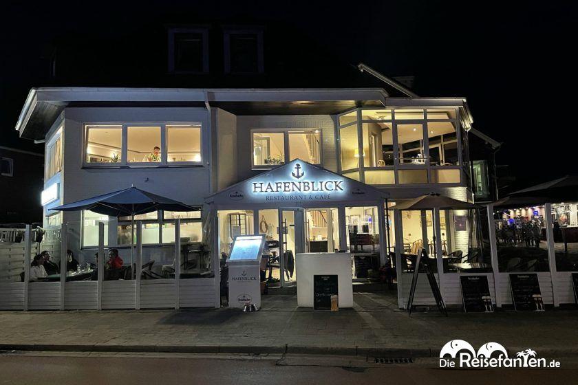 Blick auf das Restaurant Hafenblick in Niendorf