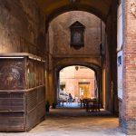 Blick von der Banchi di Sotto in Siena