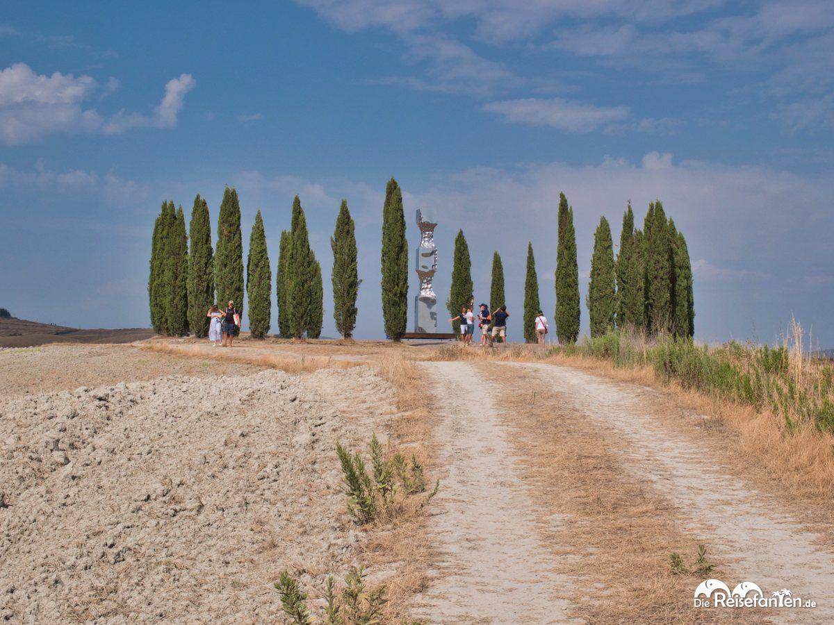 Die Zypressen von San Quirico d'Orcia sind ein beliebtes Fotomotiv