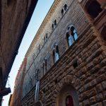 Fassaden in der Via di Città in Siena